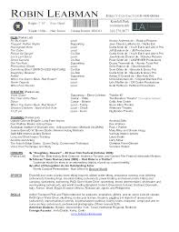 acting resume template daily actor film production format