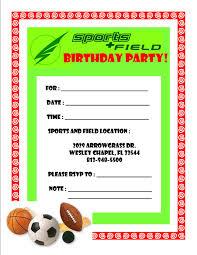 sports birthday invitations 100 images sports birthday