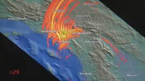 Earthquake Los Angeles Map by Simulation Shows Fallout Of 7 7 Magnitude Quake In Southern