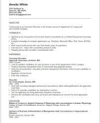 Resume Template For Job by Executive Recruiter Resume Template Http Jobresumesample Com