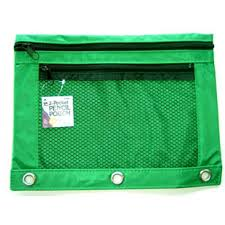 pencil pouch pouch 2 pocket with w mesh window