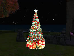 second life marketplace ta animated color gif 3d christmas tree