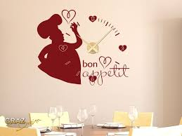 dicton cuisine sticker mural décoration avec horloge nombre pour la cuisine