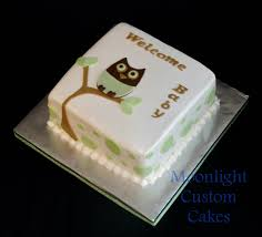 owl baby shower cake photo moonlight custom cakes owl image