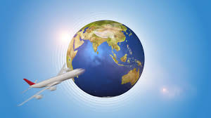 traveling around the world images Red airplanes traveling around the world motion background png