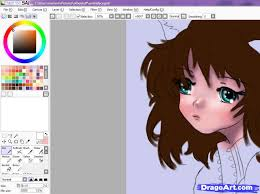 how to color skin with sai step by step coloring anime draw
