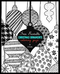 christmas ornaments coloring page u create