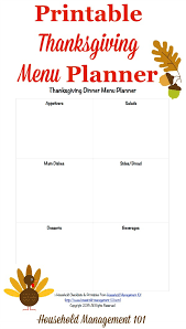 free printable thanksgiving menu planners happy thanksgiving