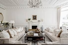 simple white and brown cozy interior design in house furniture