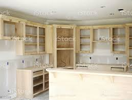 building kitchen cabinets wood cabinets stock photo image now