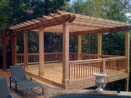 Decking Pergola Ideas by 18 Best Backyard Deck Ideas Images On Pinterest Backyard Decks