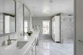 White And Gray Bathrooms White Marble Bathroom In Washington Dc