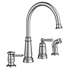 stainless faucets kitchen moen 87042srs edison stainless one handle high arc kitchen faucet