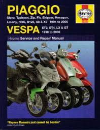 haynes piaggio vespa et2 et4 lx gt scooter 1991 2009 repair manual