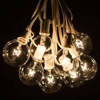 g50 globe string lights clear string lights white wire