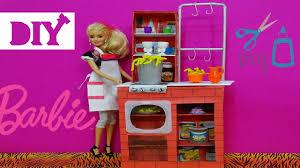 How To Make Doll Kitchen Barbie Spaghetti Chef Kitchen Diy How To Make A Barbie Spaghetti