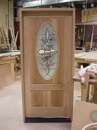 front door glass designs hand made white oak front entrance door with oval leaded glass by
