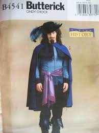 Musketeer Halloween Costume Butterick 4541 Halloween Costume Pattern Musketeer Cape French