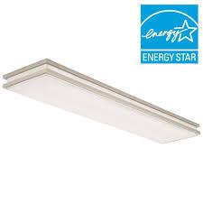 linear flush mount ceiling light lithonia lighting brushed nickel linear saturn led flushmount fmfl