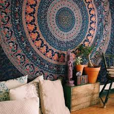 online bohemian psychedelic elephant mandala home decor tapestry