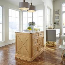 home styles country lodge pine kitchen island with quartz top 5524