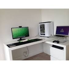 desk with pull out panel malm desk with pull out panel white rooms and pc setups