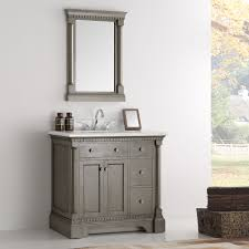 Antique Vanity With Mirror 37 Inch Antique Silver Bathroom Vanity With Mirror Carrera Marble Top