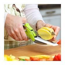 cutter de cuisine couteau ciseaux de cuisine smart coupe légume clever cutter express