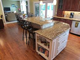 2 level kitchen island prestige 7229 loveland kitchen