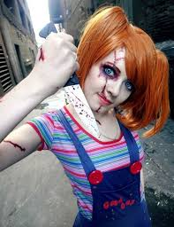 Womens Chucky Halloween Costume Female Chucky Doll Costume Creepy Awesome Idea