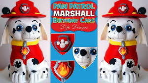 paw patrol birthday cake marshall kids party cake decorating