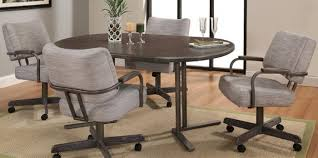 Kitchen Table With Caster Chairs Welcome Dinettes Unlimited