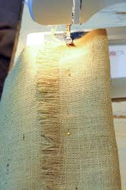 How To Sew Burlap Curtains Decorating Make Your Home More Beautiful With Burlap Curtains For