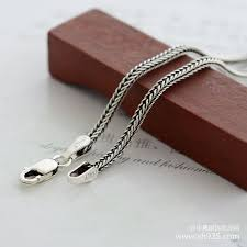 silver necklace chain lengths images 925 sterling silver necklace female thick 1 6 mm foxtail chain the jpg