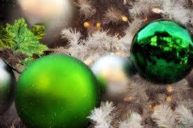 ornaments tree balls white green glow lights hol flickr