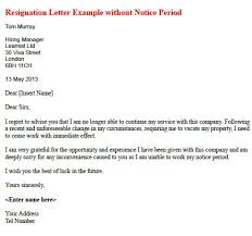 resignation letter format best resignation letter no notice new