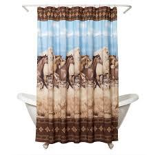amazon com zenna home running free shower curtain western