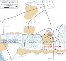 Thirteen Colonies Map Of The Battle Of Camden August 16 1780