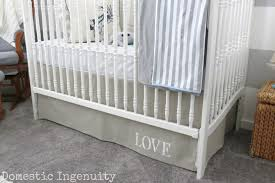 Bed Skirt For Crib Diy Adjustable Crib Skirt