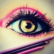 drawn eyeball pretty eye pencil and in color drawn eyeball