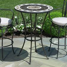 High Table Patio Set Small Elegant Peerless Round Table And Stools Bar Height Patio