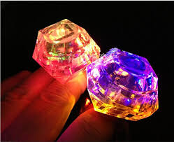 toy finger rings images Wholesale led toys crystal diamond finger ring square diamond led jpg
