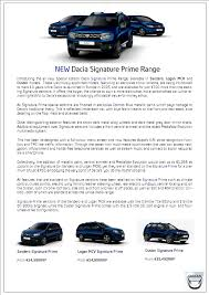 dacia signature prime dacia cars jj burke car sales