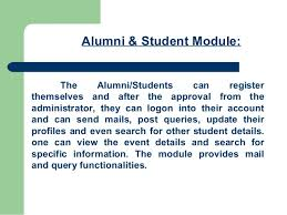 of alumni search alumni portal ppt for projects