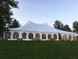 big tent rental outdoor tent wedding at harvest preserve 40 x 60 white rope