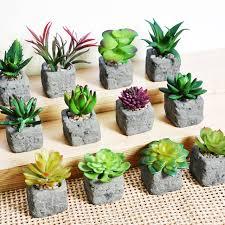 2017 home decoration accessories artificial succulent plants mini