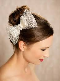 hair fascinator ivory bow bridal hair accessories birdcage bow