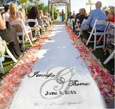 personalized wedding aisle runner wedding aisle runner design custom logo monogram includes free