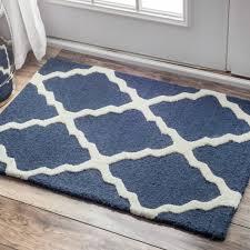 nuloom hand hooked alexa moroccan trellis wool door mat rug 2 u0027 x