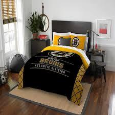 boston bruins bedroom nhl boston bruins northwest draft full queen comforter set target